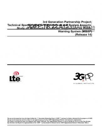 3gpp Tr 22.815 V14.0.0 (2014-12)