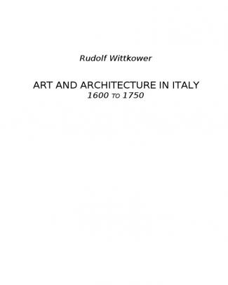 89817746 Rudolf Wittkower Art And Architecture In Italy 1600 1750