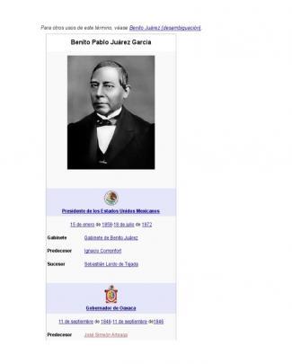 Historia De Benito Juarez