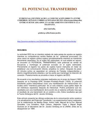 Jacobo Grinberg-zylberbaum _ El Potencial Transferido