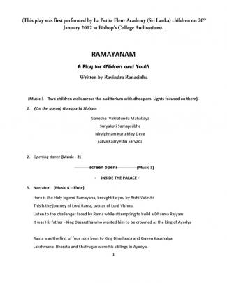 Ramayana Playscript