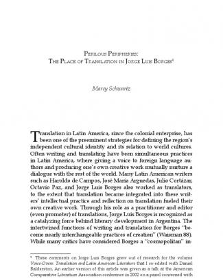 Perilous Peripheries: The Place Of Translation In Jorge Luis Borges