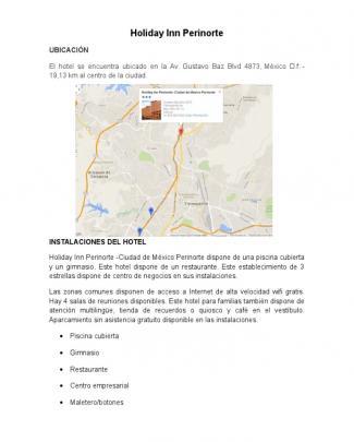 Información Sobre Holiday Inn Perinorte