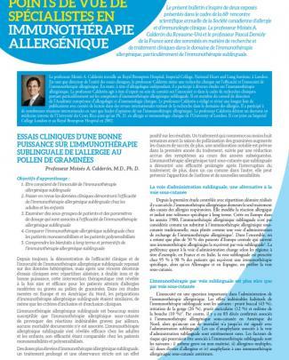 Immunotherapie Allergenique Calderon Demoly Fr Subliguale