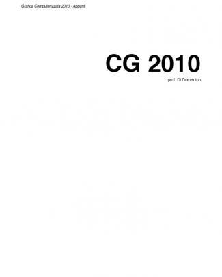 Grafica Computerizzata 2010 - Unife