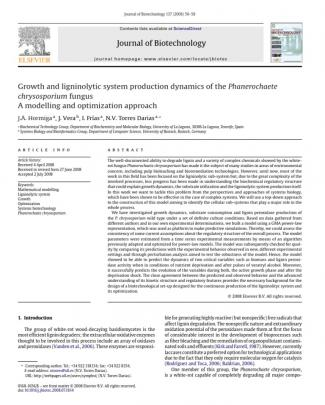 La Dinámica Del Crecimiento Y Producción Del Sistema Ligninolítica Del Hongo Phanerochaete Chrysosporium