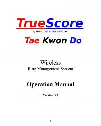 Truescore V5.2 - Operation Manual