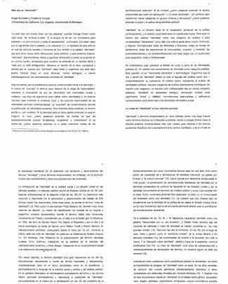 Brubaker Roger Y Cooper Frederick _ Mas Alla De La Identidad