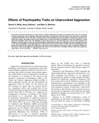Agresivitate Si Psihopatie