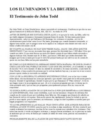 Los Iluminados Y La Brujeria _ El Testimonio De John Todd