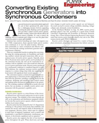 Converting Existing Synchronous Generators Into Synchronous Condensers