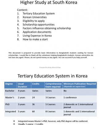 Higher Study In Korea