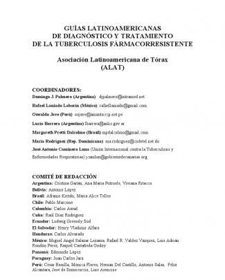 Guías Latinoamericanas De Diagnóstico Y Tratamiento De La Tuberculosis Fármacorresistente