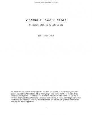 Tocotrienols Science White Paper 1.12 En All