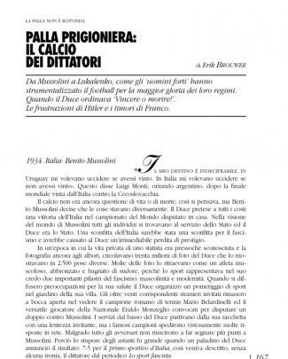 Brouwer, Erik - Palla Prigioniera, Il Calcio Dei Dittatori