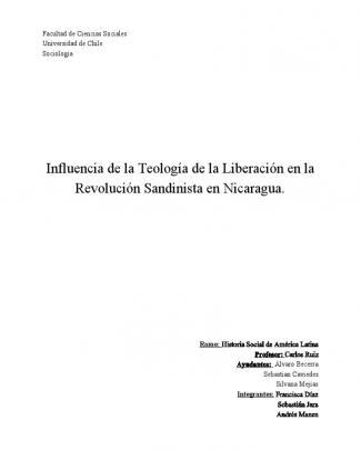 Influencia De La Teología De La Liberación En La Revolución Sandinista En Nicaragua.