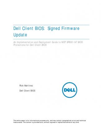 Dell Signed Firmware Update (nist 800-147)