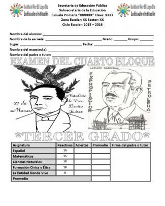 Examen Cuarto Bloque
