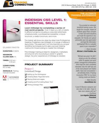Indesign Cs5 Level 1 - Essential Skills