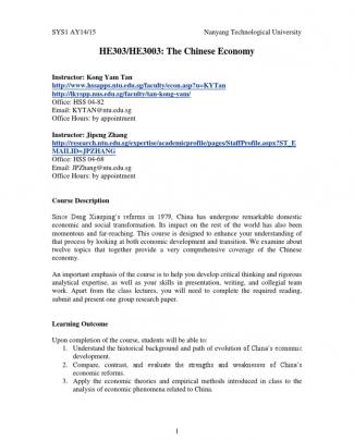 He3003 Course Outline Aug 2014