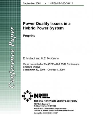 Power Quality Issues In A  Hybrid Power System