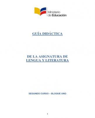 Guia Lengua Y Literatura 2bgu Bloque 1 311013