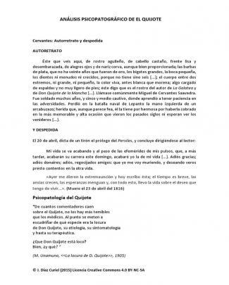 Análisis Psicopatográfico De El Quijote
