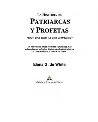 Patriarcas Y Profetas