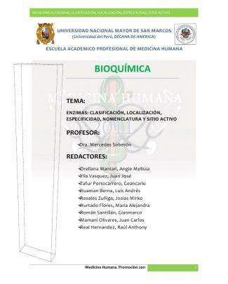 Bioquimica - Enzimas