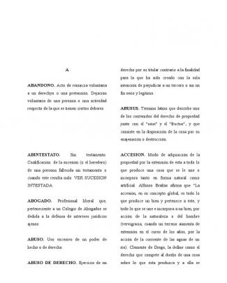 Diccionario, Derecho Civil