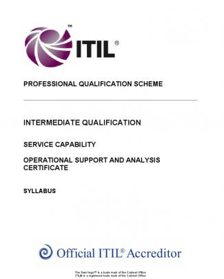 The Itil Intermediate Qualification Operational Support And Analysis Certificate Syllabus V5.4