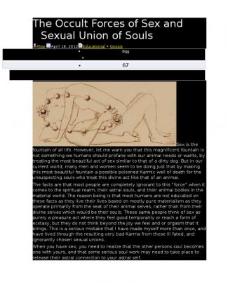 Occult Forces Of Sex