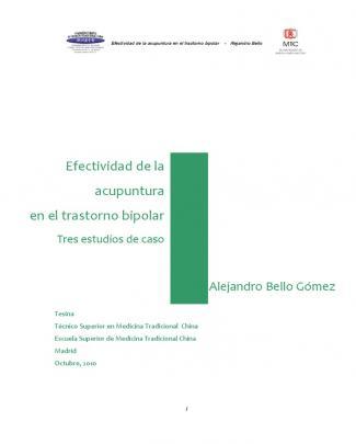Efectividad De La Acupuntura En El Trastorno Bipolar
