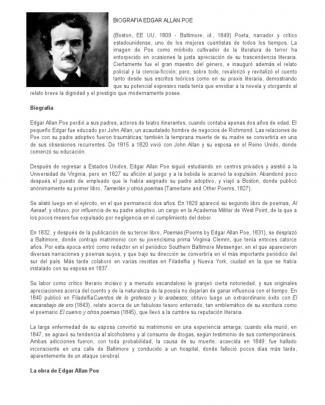 Biografia Edgar Allan Poe