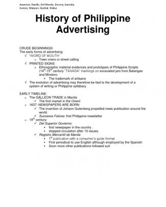 History Of Philippine Advertising