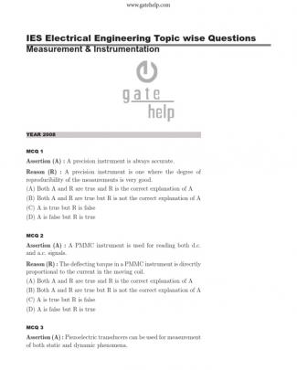 Ies - Electrical Engineering - Measurement And Instrumentation (1)