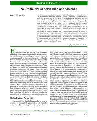 Neurobiologia De La Agresión Y De La Violencia