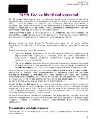 Psicología De La Personalidad Tema 12 - Uned