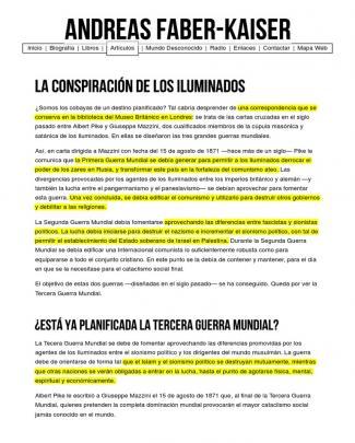 Andreas Faber-kaiser _ La Conspiración De Los Iluminados
