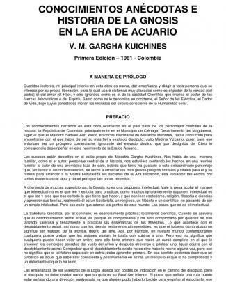 Vm Garga Kuichines - Conocimientos Anécdotas E Historia De La Gnosis En La Era De Acuario