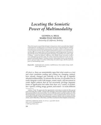 Locating The Semiotic Power Of Multimodality.2005.