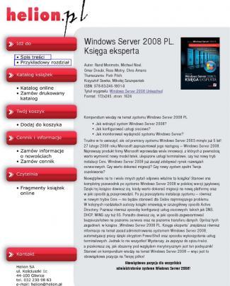 Windows Server 2008 Pl. Księga Eksperta