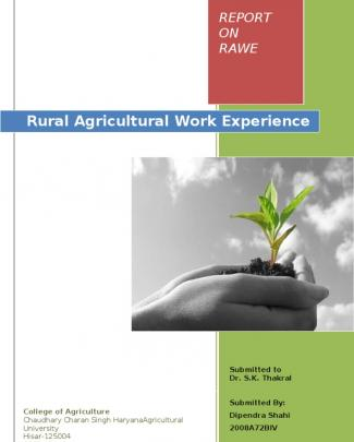 Rural Agricultural Work Experience