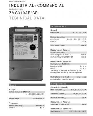 Landisgyr Zxg300 Techdata En1