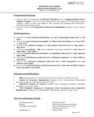 Shrihari Resume