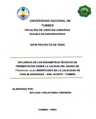Anteproyecto Factores De Optimización En La Fermentación Del Cacao.docx