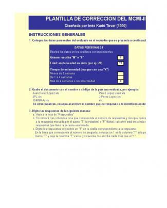 Mcmi-ii Sistema De Calificación.