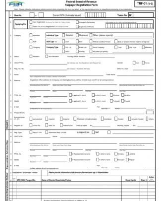 Trf-01 Form