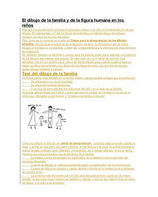 El Dibujo De La Familia Y De La Figura Humana En Los Niños