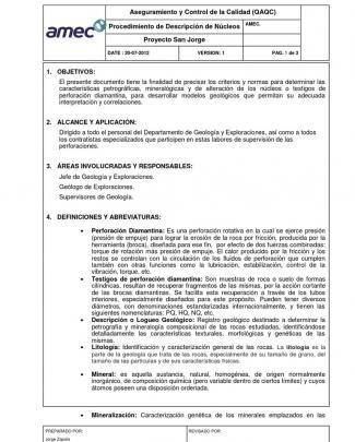 Procedimiento Logueo Geologico-2013
